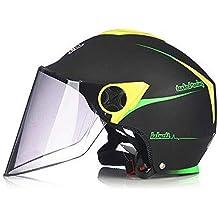 e8b480f49408f LIUWEI La Mitad De Los Cascos De Motocicleta con Protección Solar  Anti-Niebla De La
