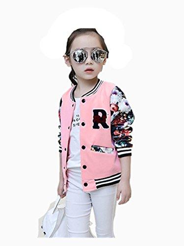 Vovotrade Fahion Neue Mode Mädchen Kinder Baseball Jacke Langarm Mantel Kleidung Outwear für 5 bis 16 Jahre alt Mädchen (Größe: 9-10 Jahre Alt) (Mädchen Kleidung Größe 10)