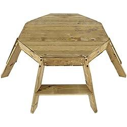 Prune Premium en bois octogonale Table d'activité