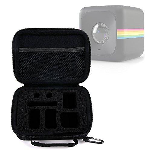 Galleria fotografica DURAGADGET Mini Valigetta / Custodia Per Polaroid Cube+ / Cube - Con Moschettone E Maniglia - Design Esclusivo Di Viaggio - Perfetto Per Regalo!