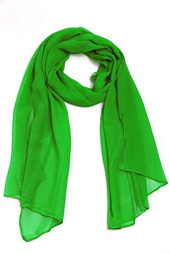 Cindio 100% Viskose Frühlingsschal Sommerschal Schal Halstuch Unifarben (einfarbig) Schal in verschiedenen Farben (grün)