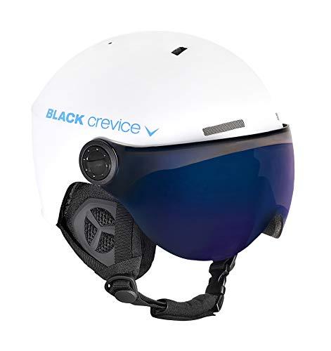 Black Crevice Erwachsene Skihelm Gstaad, weiß/blau, 58-61 cm, BCR143921-WBL-2
