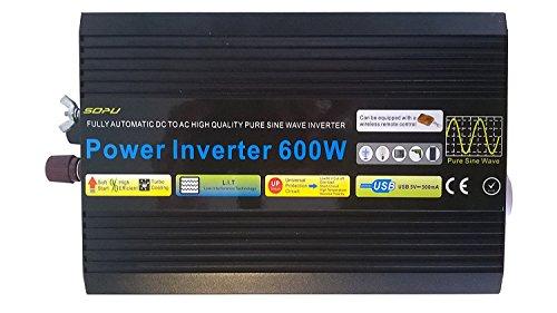 Convertisseur de tension 12V vers 220V - puissance 600W - signal pur sinus - Expédié depuis la France