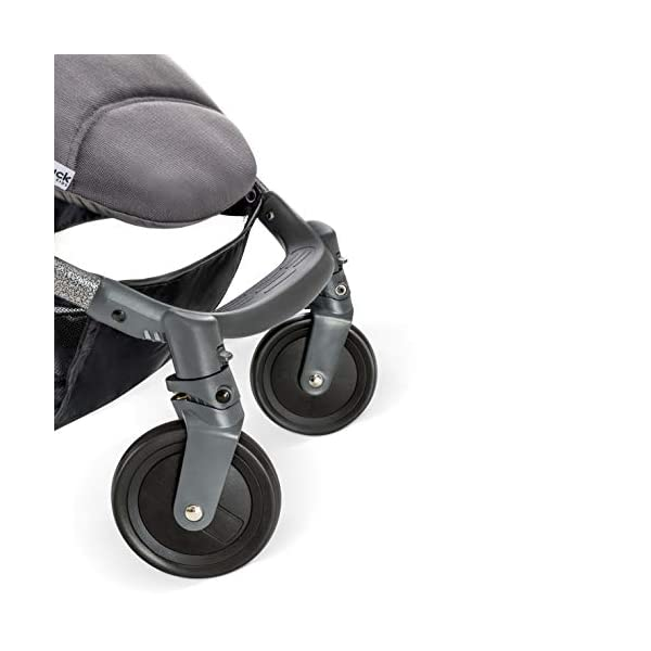 Hauck Swift Plus, Compact Pushchair with Lying Position, Extra Small Folding, One Hand Fold, Lightweight, Carrying Strap, from Birth Up To 15 kg, Lunar Hauck Our smallest comfort stroller Extra small and fast folding with one hand Extremely light - easy to carry over the shoulder 10