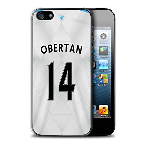 Offiziell Newcastle United FC Hülle / Case für Apple iPhone SE / Pack 29pcs Muster / NUFC Trikot Away 15/16 Kollektion Obertan
