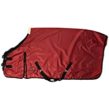 Cwell Equine New LightWeight BURGUNDY turnout rug Blanket rain sheet no fill 600 Denier waterproof (6'3)