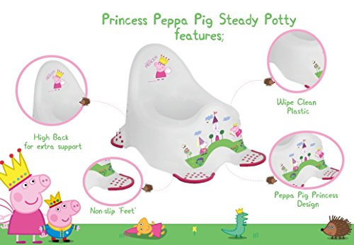 Image of Peppa Pig Steady Potty with Non Slip Feet - Princess Peppa