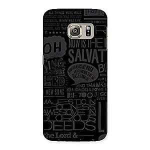 Impressive Grey Typograph Back Case Cover for Samsung Galaxy S6 Edge Plus