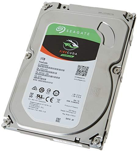 SeagateST1000DXZ02 FireCuda 1 TB, SSHD intern Festplatte (8, 9 cm (3, 5 Zoll), SATA 6 Gb/s, silber, FFP (Frustfreie Verpackung))