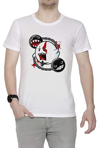Fantasma De Esparta Hombre Camiseta Cuello Redondo Blanco Manga Corta Tamaño L Men's White T-Shirt Large Size L