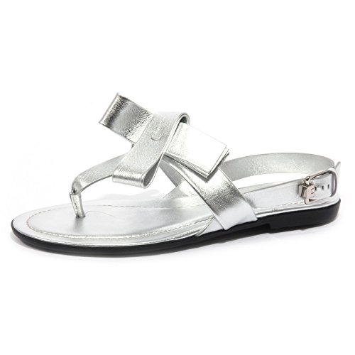 B1563 infradito donna TOD'S sandalo fiocco argento flip flops shoe woman Argento