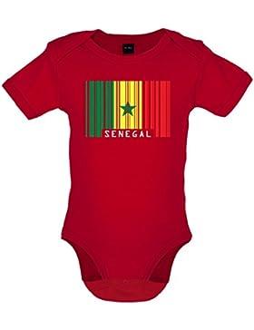 Senegal / Republik Senegal Barcode Flagge - Baby-Body - 7 Farben - 0-18 Monate