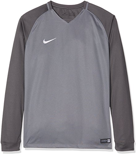 best service 739b2 54000 Nike Trophy III Youth LS Maillot Mixte Enfant, Cool Dark Grey Blanc, FR