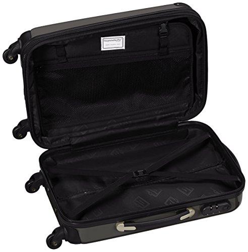 HAUPTSTADTKOFFER - Alex - Handgepäck Hartschalen-Koffer Trolley Rollkoffer Reisekoffer Erweiterbar, 4 Rollen, 55 cm, 42 Liter, Graphit - 6