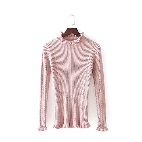 MEI&S Décontracté femmes Regroupement Top Pull laine mélangée cardigans pulls pink