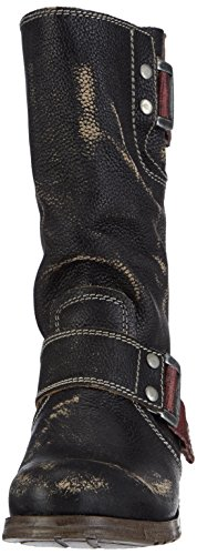 Fly London SURI Damen Biker Boots Schwarz (Black 000)
