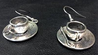 boucles d'oreilles tasses à café