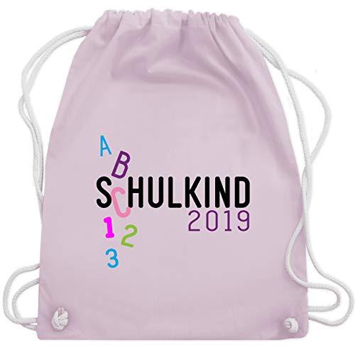 Einschulung und Schulanfang - Schulkind 2019 ABC rosa - Unisize - Pastell Rosa - WM110 - Turnbeutel & Gym Bag -