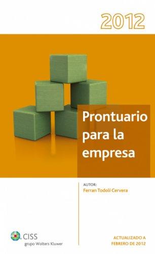 Prontuario para la Empresa 2012 (Prontuarios) por Ferran Todolí Cervera