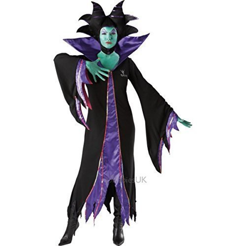 Disney's Maleficient Damen Malificent Villain böse Königin Kostüm Hexe, Halloween Outfit (Disney Maleficent' Kostüme Für Erwachsene)