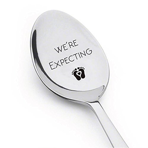 We're Expecting Spoon- Pregnancy Announcement Spoon- Best Selling Item -Engraved Unique Gift Ideas - Spoon Gift # A8