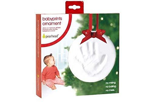 Kit Empreinte bébé Rond - ruban rouge Bl