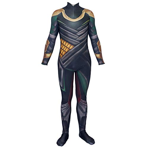 NDHSH Loki Fancy Dress Costume Cosplay Onesies Adult Halloween Costume 3D Stampa Spandex Prom Partito Masquerade Regalo di Natale,Adult-XXL