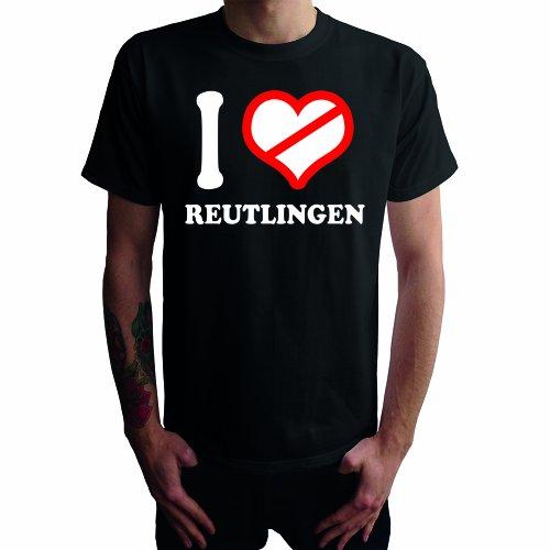 I don't love Reutlingen Herren T-Shirt Schwarz