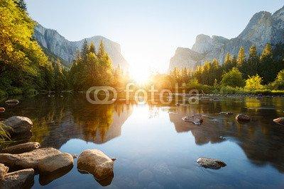 "Alu-Dibond-Bild 60 x 40 cm: ""Yosemite valley"", Bild auf Alu-Dibond"