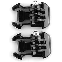 Demarkt - 2 piezas Base de montaje OEM Gopro accesorios hebilla de liberación rápida para cámara Gopro 1 2 3 SupTig
