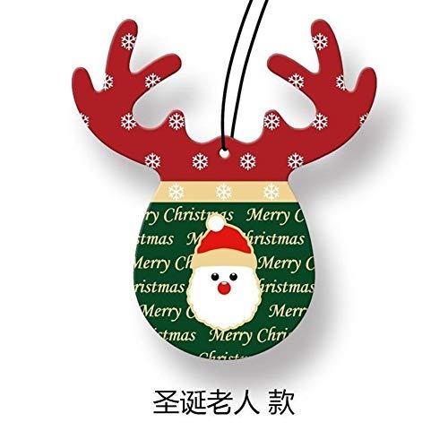 LABAICAI Weihnachtsdekoration Lufterfrischer für Häuser Nette Geweih-Duft-Papiere, die Parfüm für Häuser hängen Minilavendelkissentaschen (Color : Santa Claus) -