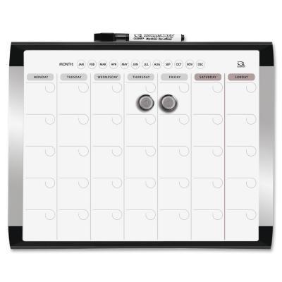 Quartet Dry Erase Calendario 28cmx 36cm con cornice (3-Pack) - Dry Erase Calendario