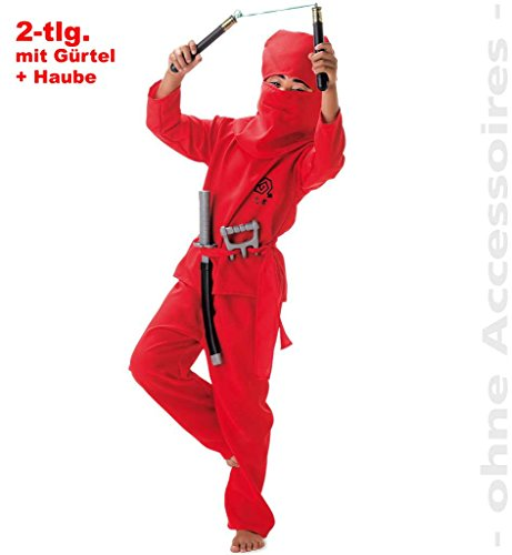 Fighter Kind Ninja Kostüm Red - Faschingskostüm
