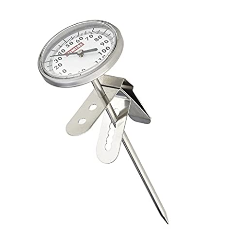 1pièce professionnel en acier inoxydable Lait Thermomètre avec clip pour café Espresso de cuisine Pâtisserie outils