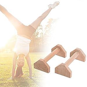 supertop Prom-near Handstand- und Liegestützgriffe – Stabil, komfortabel und langlebig – Handgemacht aus besten natürlichen Materialien 300KG tragen