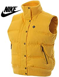 Nike Womens Yellow Padded Gillet Bodywarmer Quilted Coat Jacket - Sizes XS, S, M, L, XL- BRAND NEW