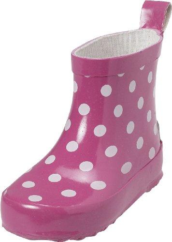 Playshoes Gummistiefel Punkte kurz 180358, Unisex - Kinder Schlupfstiefel, Pink (pink 18), 18 EU