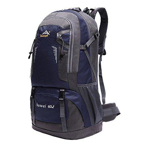 60L Outdoor Sport Rucksack Neu Bergsteigen Tasche Wandern Tasche Dark