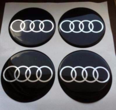 Audi ★4 Stück★ 55mm Aufkleber Emblem für Felgen Nabendeckel Radkappen