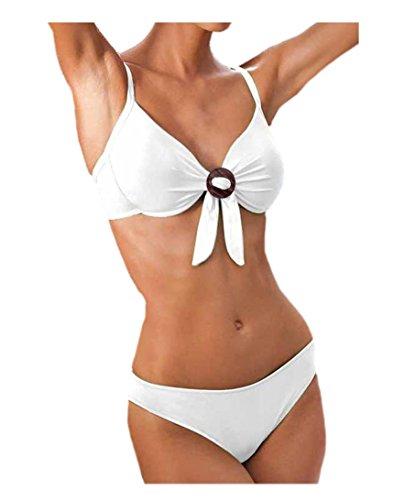 Borabora Damen-Bikini Marken-Bikini Softcup-Bikini Mikrofaser weiß Gr. 36 C (Bora Bora Bademode)
