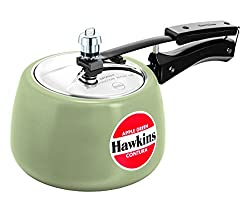 Hawkins Contura Ceramic Coated Pressure Cooker, 3 Litres, Apple Green