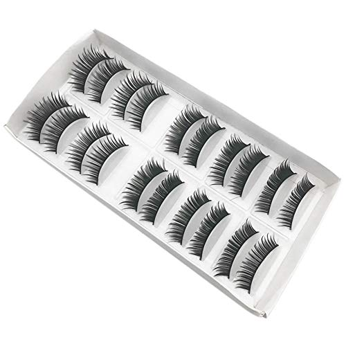 0fe02b35f93 MRULIC 10 Pairs 3D 100% Handgefertigte Künstliche Wimpern Dickes Augen  Lashes Falsche Wimpern (J