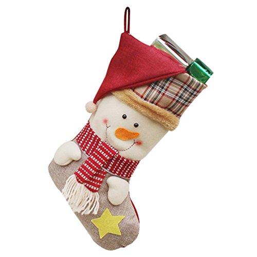 YiLianDa Bella Natale Calze Calze Di Natale Santa Renne Snowman Xmas Calzini Di Natale