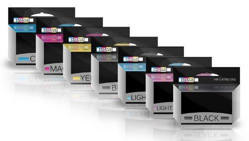 Prestige Cartridge HP84/HP85 Sette Cartucce di Inchiostro non OEM per Stampanti HP Designjet, Multicolore