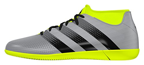 adidas Ace 16.3 Prime Aq3418, Scarpe da Calcio Uomo Silver metallic-Black-Solar yellow
