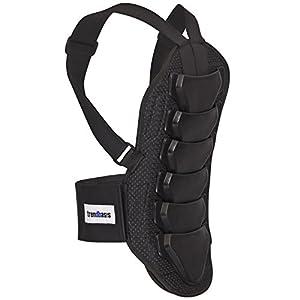 trendbasis Rückenprotektor für Ski und Snowboard – effektiver Schutz der Wirbelsäule – Größe S (Körpergröße 150-160cm) – Protektorplatten: Schwarz