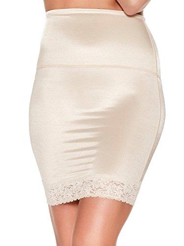ec21f6b6f3 M Co Ladies Shape and Smooth Retro Control Shapewear Lace Trim Hem Half  Slip Nude 8