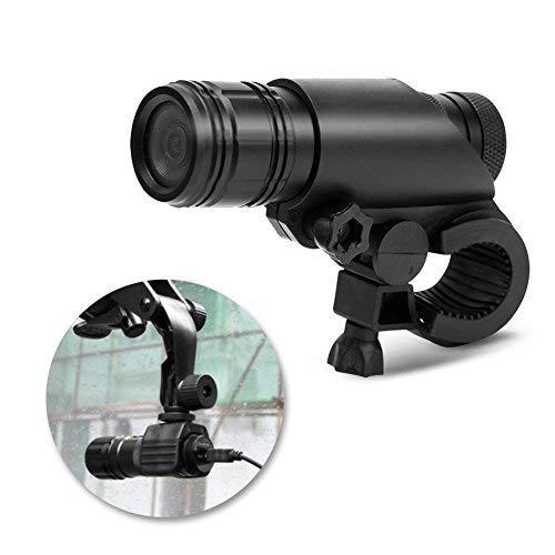 Zerone Videocamera Digitale MC28, Videocamera Moto Casco Moto Impermeabile 8MP 720P Videoregistratore Digitale con Kit di Montaggio 120 Gradi Fotocamera per Arrampicata Sportiv