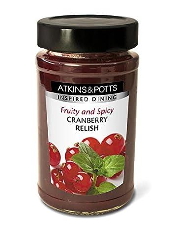 Atkins & Potts - Spicy Cranberry Relish - 240g (Case