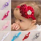 Bheema Bebé de flores y perlas banda de pelo diadema niña para bebé Niños gorro de invierno accesorios